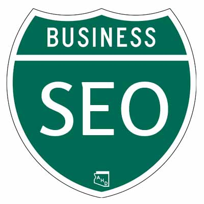 Arizona highway sign with business seo text