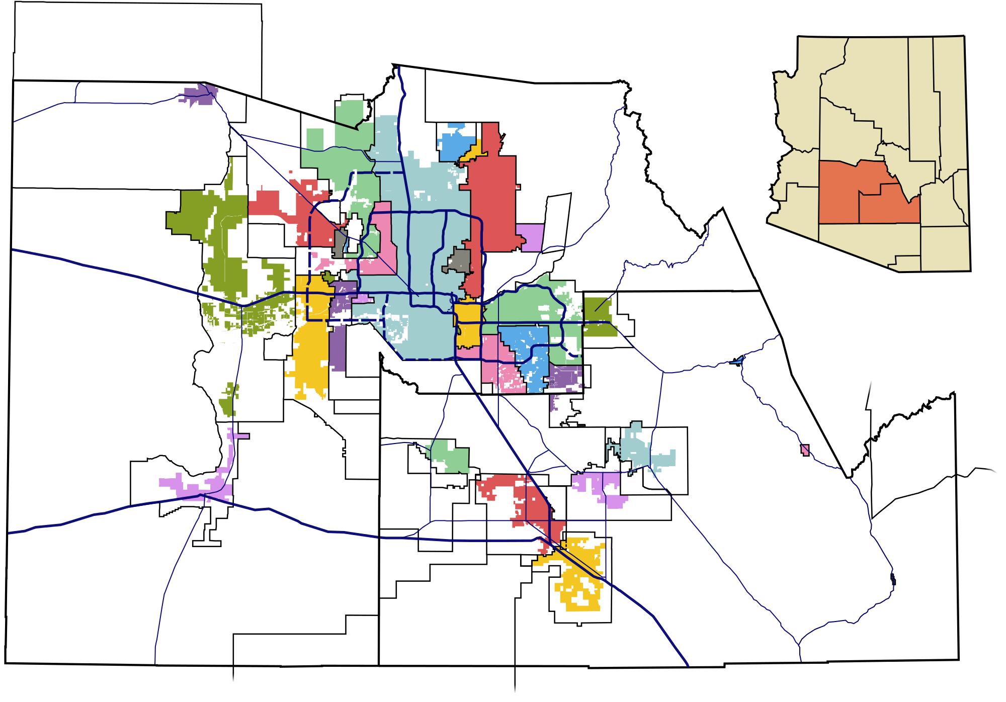 Map of Phoenix Metro Area