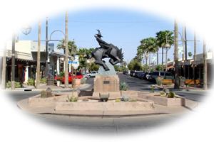 Statue in Old Town Scottsdale Arizona